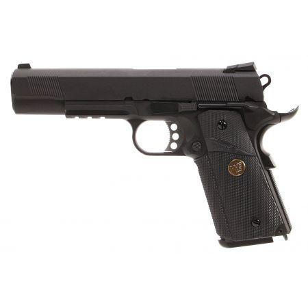 Pistolet WE 1911 MEU GBB Gaz Blowback Full Metal - Noir