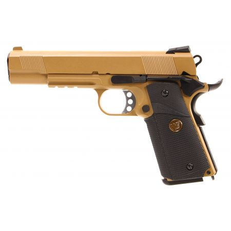 Pistolet WE 1911 MEU GBB Gaz Blowback Full Metal - Tan
