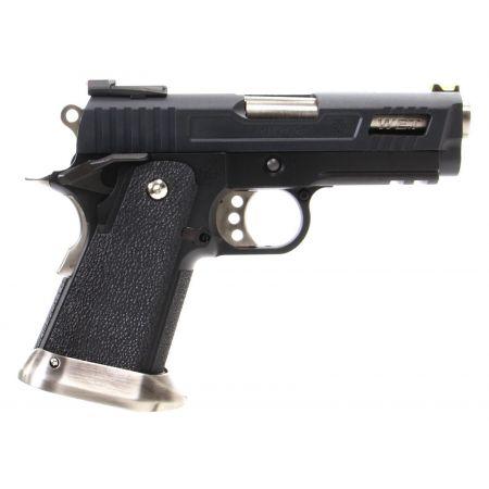 Pistolet WE Baby Hi-Capa 3.8 Velociraptor GBB Gaz Blowback - Noir
