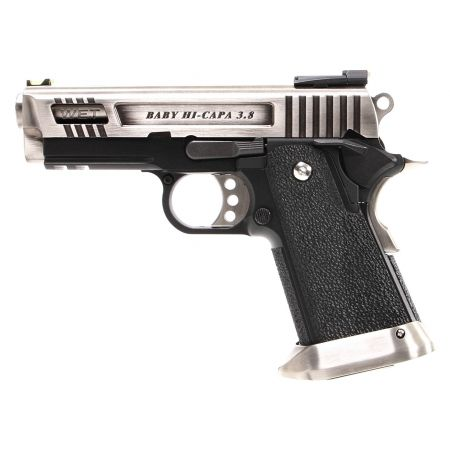 Pistolet WE Baby Hi-Capa 3.8 Velociraptor GBB Gaz Blowback - Silver