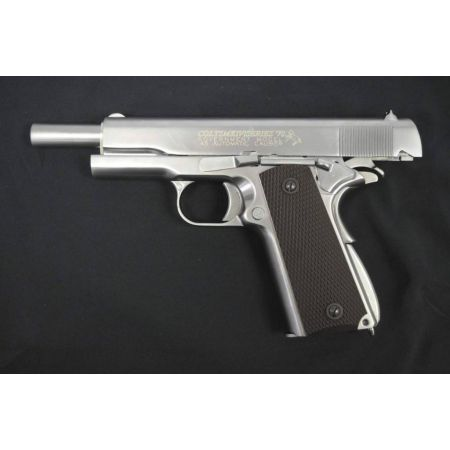 Pistolet WE Colt 1911 MKIV Series 70 Silver Gas Blowback Metal - 180600