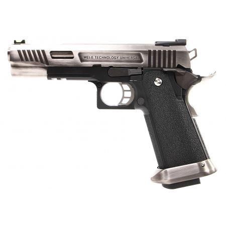 Pistolet WE Hi-Capa 5.1 T-Rex GBB Gaz Blowback - Silver