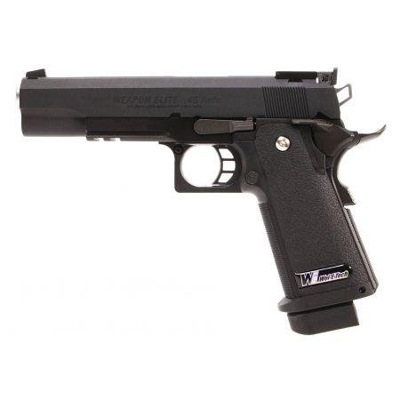 Pistolet WE Hi-Capa 5.1 version R GBB Gaz Blowback - Noir