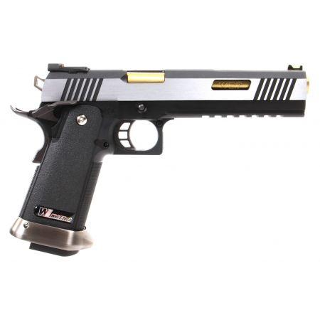Pistolet WE Hi-Capa 6 T-Rex GBB Gaz Blowback - Dual Tone