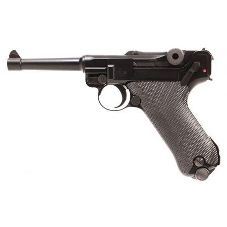 Pistolet WE Luger P08 4 Pouces GBB Gaz Blowback Full Metal Noir 500615