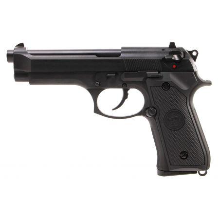 Pistolet WE M92 GBB Gaz Blowback Full Metal - Noir