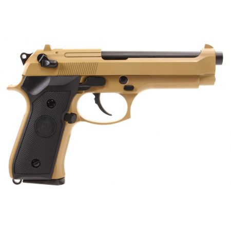 Pistolet WE M92 GBB Gaz Blowback Full Metal - Tan