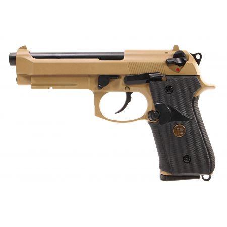 Pistolet WE M9A1 Navy GBB Gaz Blowback Full Metal - Tan