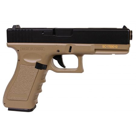 Pistolet Yakuza Delta Tactics G18C (G18 C LiPO Mosfet) AEP Cyma CM030 Tan