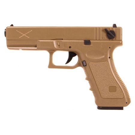 Pistolet Yakuza G18 LiPO AEP Saigo Defense - Tan