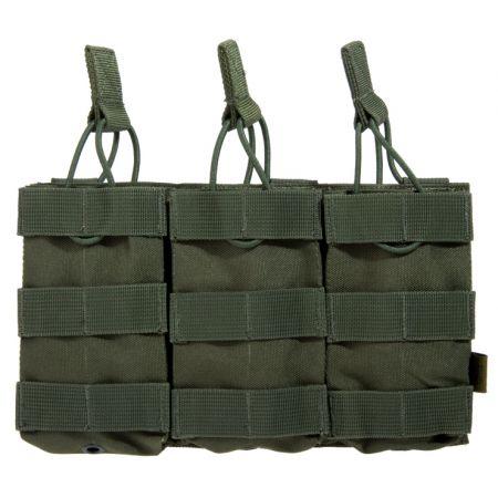 Poche Molle Triple Porte Chargeurs M4 Olive - Delta Tactics
