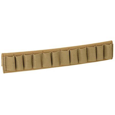 Porte chargeur Cartouchière Ceinture 12 Cartouches Fusil à Pompe - Tan