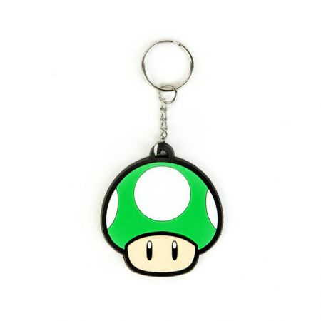Porte Clef PVC Super Mario - 1 UP Mushroom (Champignon) - PD-PC-2030