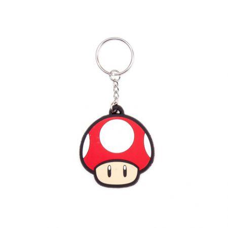 Porte Clef PVC Super Mario - Super Mushroom (Champignon) - PD-PC-0038