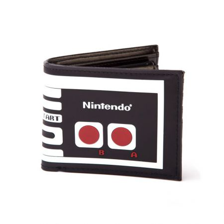 Portefeuilles Monnaie Retro Manette Nintendo Nes - Noir - PD-PT-2960