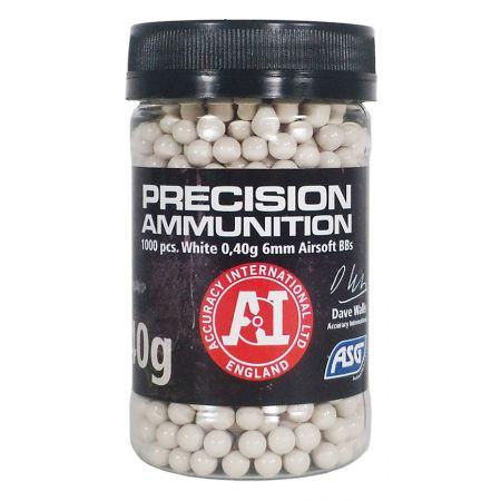 Pot 1000 Billes (BBs) Blanches 0.40g Precision Ammunition ASG - 18413