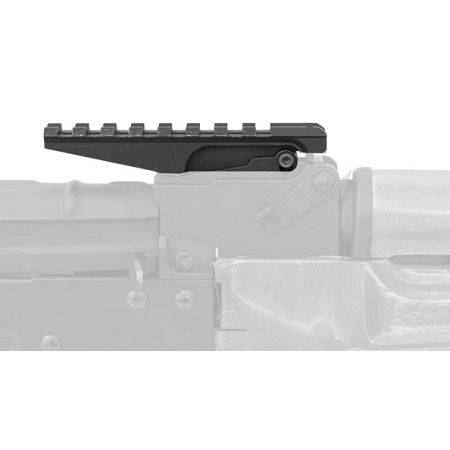Rail Picatinny Rear Sight Réplique Type AK47 Metal - Noir
