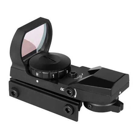 Red Dot Sight Reflex Visée Point Rouge & Verte Multi-Reticules - Noir