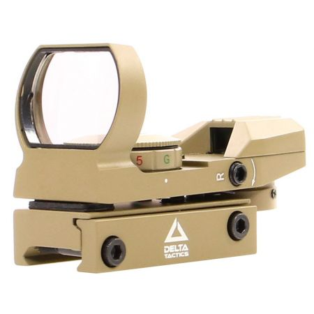 Red Green Dot Sight Reflex Visée Point Rouge & Verte Multi-Reticules - Tan