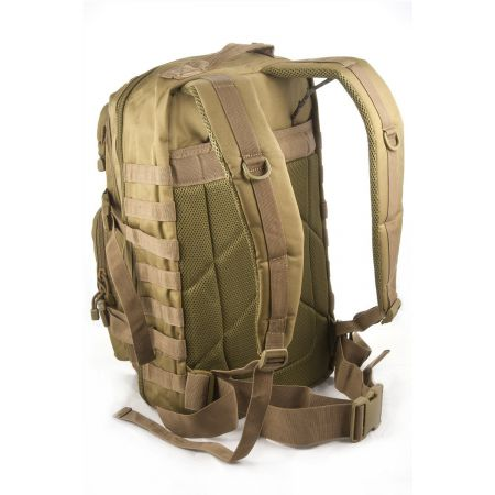 Sac à Dos Multipoches Survie US Assault Pack Coyote & Fixation Molle Miltec