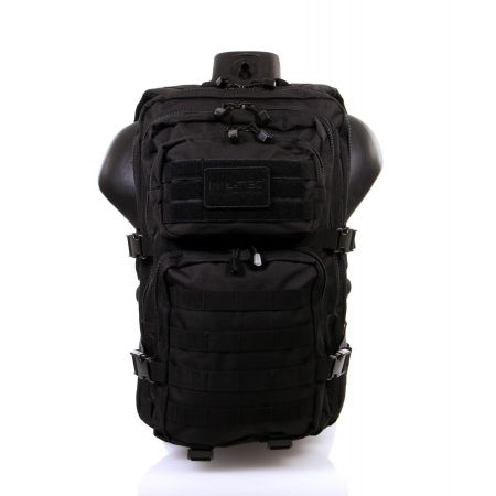 Sac a Dos Multipoches Survie US Assault Pack Noir & Fixation Molle Miltec