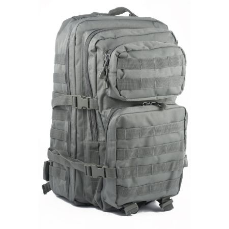 Sac à Dos Multipoches Survie US Assault Pack Urban Grey & Fixation Molle Miltec