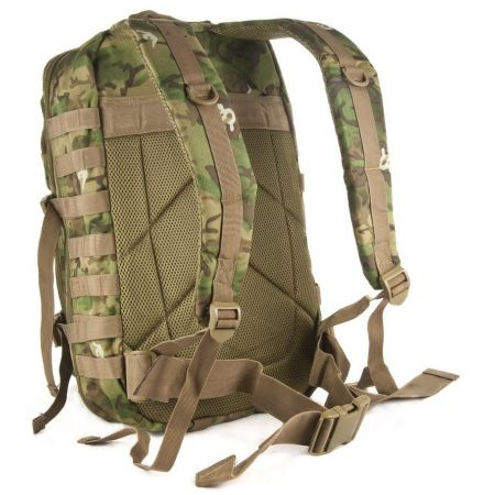 Sac à Dos Multipoches Survie US Assault Pack Woodland & Fixation Molle Miltec