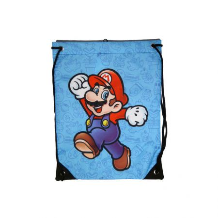 Sac a Ficelle Bleu Nintendo Super Mario - CI17976NTN