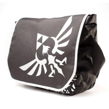 Sac Besace a Bandoulière Noir Logo Triforce Nintendo Zelda Skyward Sword - PD-SAC-4051