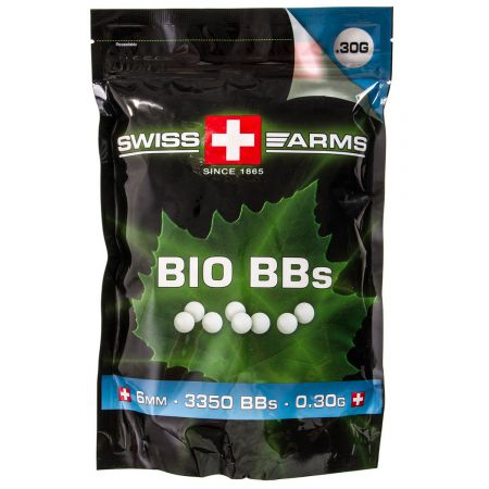Sachet (1kg) 3350 Billes (BBs) Blanches Bio 0.30g King Arms - KA-BB-07-WH