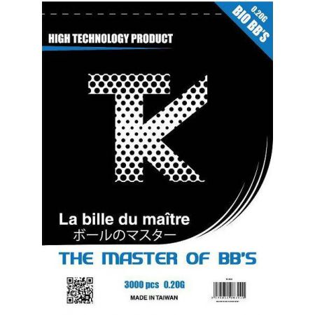Sachet 3000 Billes (BBs) Bio 0.20g Tanio Koba TK - TK3020