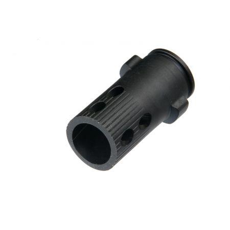 Silencieux QD Gemtech 185x35mm - 14mm CCW Antihoraire King Arms Noir