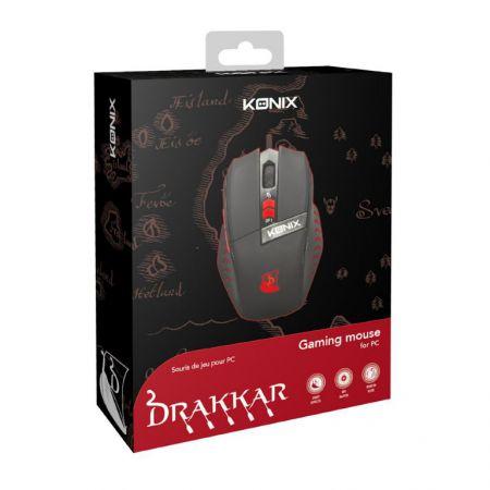 Souris Gaming Lumineuse Drakkar - DPI Ajustable ( 500 à 2000) - Konix