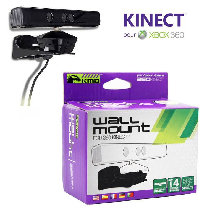 Support fixation mural pour xbox 360 kinect jeux video for Support mural xbox one
