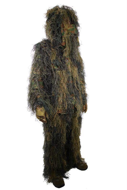 tenue complete camouflage ghillie suit ignifug woodland. Black Bedroom Furniture Sets. Home Design Ideas