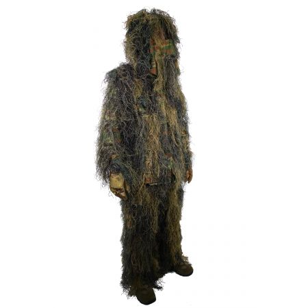 Tenue Complete Camouflage Ghillie Suit Ignifugé Woodland MilTec