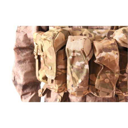 Veste Gilet Tactique Chest Rig 7 Poches Delta Tactics - Multicam