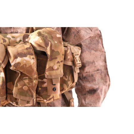 Veste Gilet Tactique Chest Rig 7 Poches Delta Tactics - Multicam