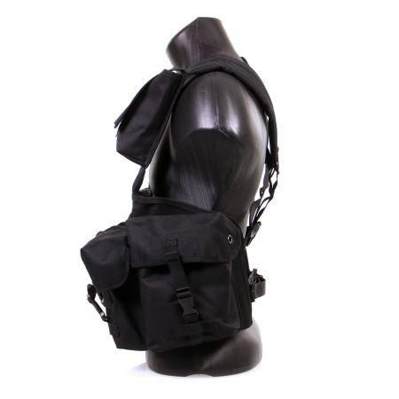 Veste Gilet Tactique Chest Rig 7 Poches Miltec (Mil-Tec) Noir - 13530002