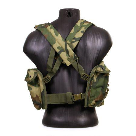 Veste Gilet Tactique Chest Rig 7 Poches Miltec (Mil-Tec) Woodland - 13530020