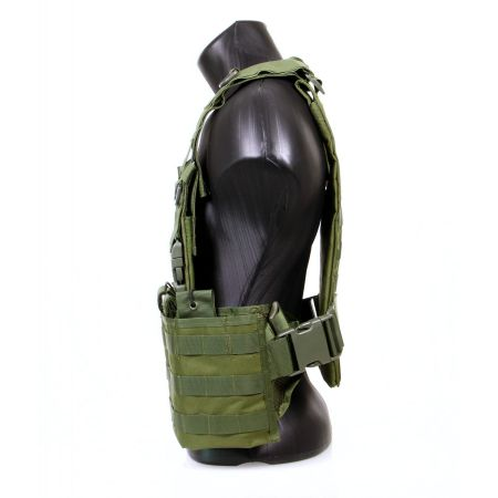 Veste Gilet Tactique Chest Rig Back Panel Swiss Arms - Olive - 604035