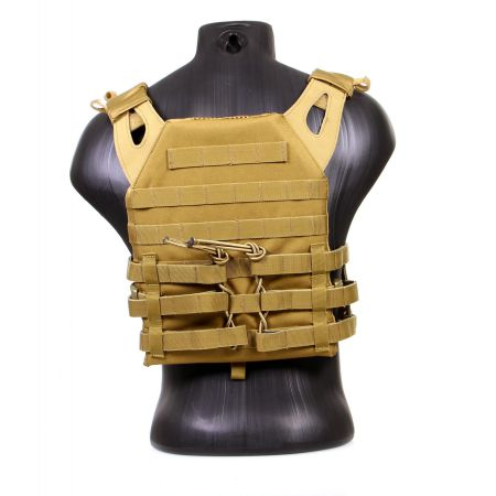 Veste Gilet Tactique JPC Jumpable Plate Carrier Delta Tactics - Coyote