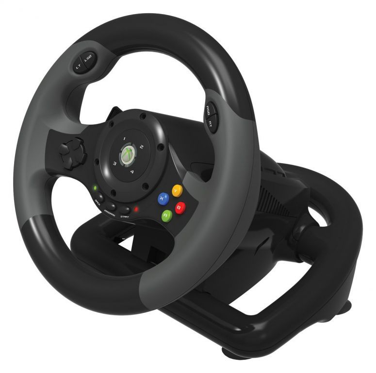 volant officiel microsoft xbox 360 racing wheel ex 2 hori jeux v. Black Bedroom Furniture Sets. Home Design Ideas