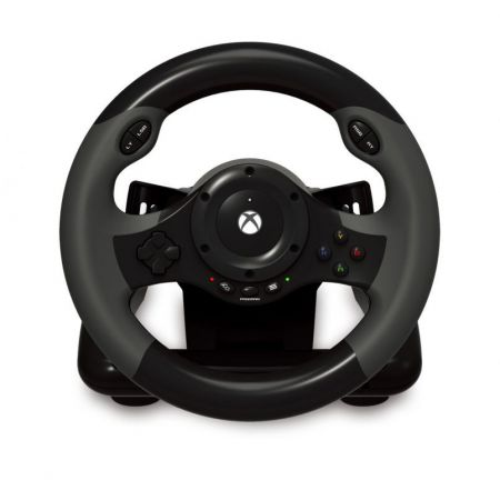 Volant + Pedalier pour Console Xbox One - Officiel Microsoft - Racing Wheel Hori