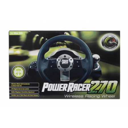 Volant + Pedalier Sans Fil Avec Retour de Force Datel - Power Racer 270
