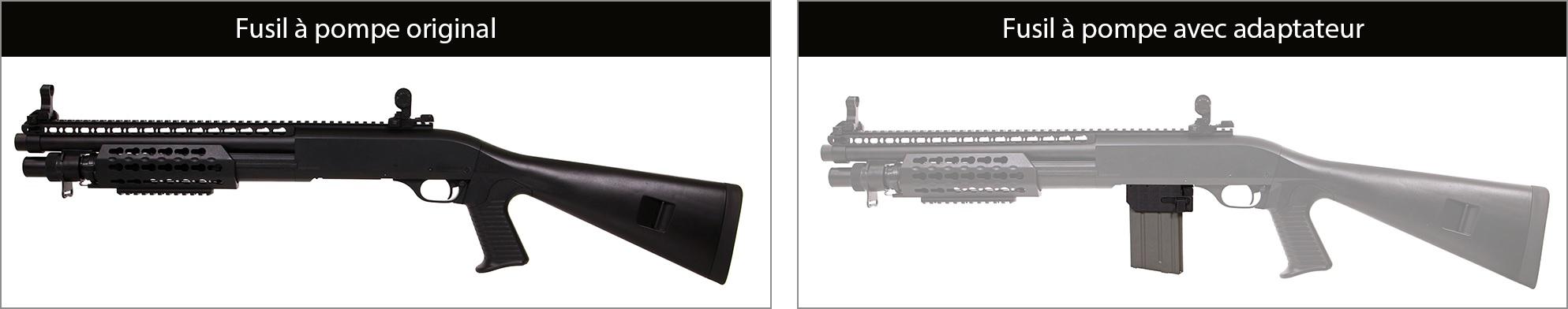 adaptateur chargeur m4 fusil a pompe elements 4