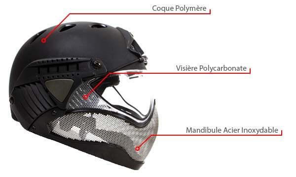 casque warq protection integrale noir materiaux de conception polymere metal polycarbonate airsoft 1 optimized