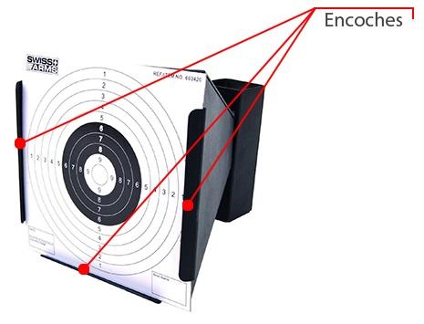 cible conique metal 10 cibles cartons swiss arms 603418 5