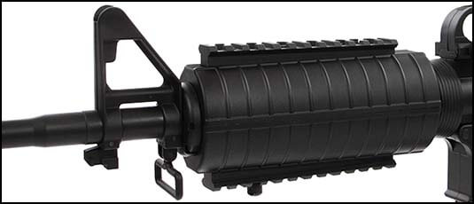 fusil a billes well m16 a1 noir spring pal sp ac80010 lot rails picatinny airsoft 1 optimized