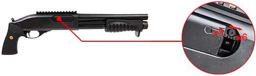 fusil a pompe m870 breacher gaz full metal noir tokyo marui 620101 burst 3 ou 6 coups airsoft 1
